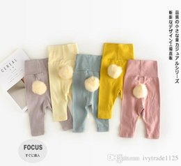 Wholesale Girl Candy Tight - new arrival baby kids candy color pants 100% cotton downy ball pant fall cute baby kids pants