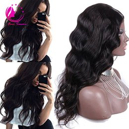 Wholesale Human Hair Middle Part Wigs - Peruvian Body Wave U Part Human Hair Wigs Middle Left Right U Part Virgin Hair Wigs For Black Women Natural Color 12-26 inch