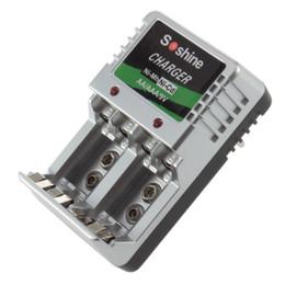 Wholesale 9v Battery Charger Eu - Sc-z23B EU Plug Standard Charger 4 AA AAA 9V Ni-M?h Ni-Cd Rechargeable Battery Batteries