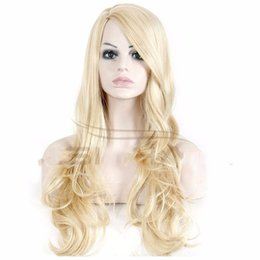 Wholesale Kanekalon Cheap Wigs - Best Selling Cheap Fashion 100% Kanekalon wig big wave female elegant wigs wavy wig synthetic,wholesale Free Shipping