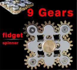 Wholesale Toys Wholesale Dora - hotFiget spinner handspinner Gadget 9 GEAR Hand spinner fidget toy Steampunk fidget machine with 9 wheels Top Finger Gyro Decompression dora