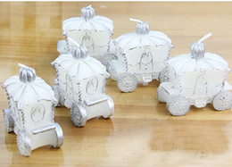 Wholesale Car Candles - 20pcs White Pumpkin Car Candle For Wedding Party Birthday Souvenirs Gifts Favor