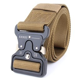 Wholesale Tactical Belt Webbing - 2018 New Fashion Unisex Army Tactical Waist Belt Jeans Male Casual Canvas Webbing Nylon Duty Belt,Can be custom-made logos
