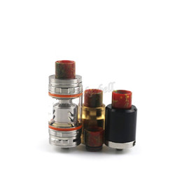 punta de goteo de reemplazo smok tfv8 Rebajas Puntas de goteo de resina para cigarrillos electrónicos SMOK TFV8 Ecigs Vaporizador Tanque Vaporizador Fit 510 atomizadores 6 colores