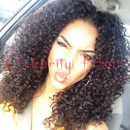 Wholesale Wigs Blonde Curly - afro kinky curly glueless Lace front Wig for black woman 12-26inch 150%density black brown blonde wig 350-420g front lace