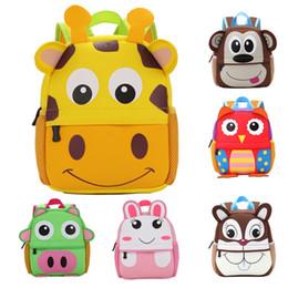 Wholesale Toddler Boy Animal Backpacks - 2017 New 3D Animal Children Backpacks Brand Design Girl Boys Backpack Toddler Kids Neoprene School Bags Kindergarten Cartoon Bag