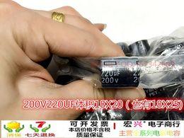 Wholesale Capacitor Sizing - Wholesale- 200V220UF small size 18X20 electrolytic capacitor