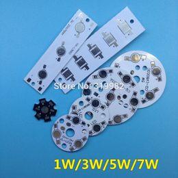 Wholesale Grow Lights 3w 5w - Wholesale- 50 PCS LED High Power Lumen PCB Board Panel Aluminum Heatsink Base 1W 3W 5W 7W for LED Bulb Lamp Grow Light DIY Empty PCB