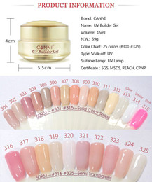 Wholesale Extension Sample Color - 15ml*6pcs Free Shipping CANNI Factory Supplier Nail Art Salon Test Sample Nail Extension Nude Clear Color Camouflage UV Gel