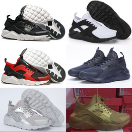 Wholesale Orange Box Design - 2016 New Design Air Huarache 4 IV Running Shoes For Women & Men, Lightweight Huaraches Sneakers Athletic Sport Outdoor Huarache Shoes 5.5-15