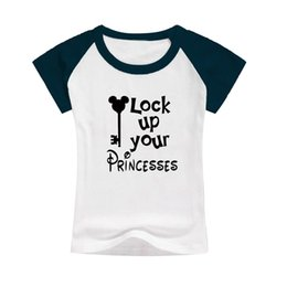 Wholesale Neck Lock - clothes for children ready to summer short sleeve child t-shirts wholesale bulk selling kid clothes tos lock up your princesses word shirt