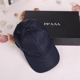 Wholesale women designer hats - High quality canvas men and women hats outdoor sports leisure headdress European style designer sun hat luxury brand caps with box