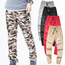 Wholesale Boys Hip Hop Pants - Wholesale-hip hop men urban clothing kanye west swag dance pants boys joggers black fashion mens plus size clothing boys leather pants