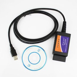 Wholesale Elm Obd Cable - New Version ELM 327 V1.5 OBD 2 ELM327 USB Interface CAN-BUS Scanner Diagnostic Tool Cable Code Support OBD-II Protocols hot sale