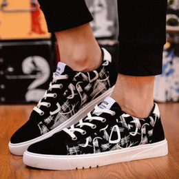 Wholesale Korean Shoes For Male - The 2017 men's casual shoes men's Korean air spring shoes printing students low male shoes One for sale Low-priced High quality Pu material