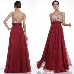 Wholesale Empire Waist Chiffon Maxi Dress - Hot prom solid color embroidery waist sexy backless large swing dress celebrity long evening dresses sweep train party dresses2201