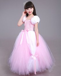 Wholesale Wholesale Pageant Gowns Girls - 2017 Gold halter girls pageant dress Girl pageant dress Pageant dresses Gown Flower Girls Dresses Butterfly Kidschristening dresses