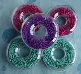 Wholesale Round Paper Clips - 29mm clips colourful paper clip memo clip clamp round clips paperclips doughnut packing office school supplies
