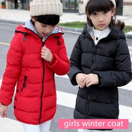 Wholesale Parka Jacket Girls - 2017 Autumn Winter jacket for girls clothes Cotton Padded Hooded Kids Coat Children clothing girl Parkas enfant Jackets & Coats