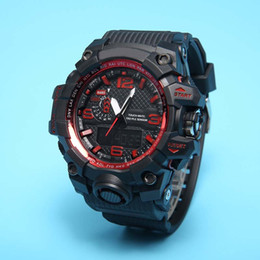 Wholesale multi color led display - New style Fashon GWG men's sports watches GW1000 Display LED Fashion army military shocking watches men Casual Watches