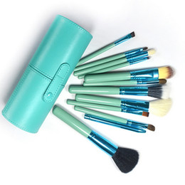Wholesale Pro Kit Tool Case - Brand new Pro Portable makeup brushes make up brushes Set Makeup Tools with Cup holder Case