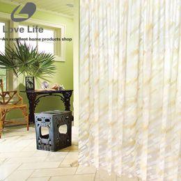 Wholesale Peva Curtain - Wholesale- New Arrival Waterproof PEVA Shower Curtains bathroom curtain With Hooks Duschvorhang curtain for the bathroom home decor