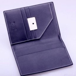 Wholesale Document Holder Leather - Artistic three-dimensional letters multifunction leather passport holder passport card document package travel package