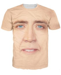 Wholesale Facing Giants - Wholesale-the giant blown up face of Nicolas Cage T-Shirt National Treasure 3d print t shirt Women Men Summer Style tees tops