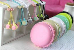 Wholesale Earbuds New Arrival - New Arrival Macaron Stereo Earphones Earbuds Handsfree Earphone for cell phone retail package