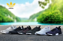 Wholesale Men Shoes New Arrival - 2017 New arrival NMD runner R1 STLT PK Primeknit men women sports shoes Sneaker green white nmds ultra boost Running Shoes Training Shoe