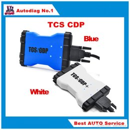 Wholesale Car Ecu Diagnostic Tools - Top Selling 2014.R2 with keygen TCS cdp pro plus Blue white car truck Diagnostic tool Multi-language same as MVD