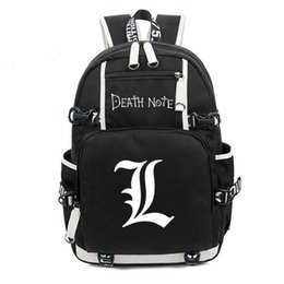 Wholesale red note book - Wholesale- Japan Anime Death Note Backpack Large Oxford Luminous Printing Shoulder Bag for Boys Girls Travel Laptop Book Bags