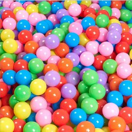 Canada 200pcs / lot Eco-Friendly Colorful Soft Plastic Water Pool Ocean Wave Ball Bébé Funny Toys Stress Air Ball Outdoor Fun Sports colorful ball soft for sale Offre