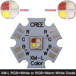 Wholesale Rgb L - Wholesale- 10w Cree XLamp XM-L XML RGBW RGB White or RGB Warm White Color High Power LED Emitter 4-Chip 20mm Star PCB Board