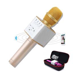Wholesale Karaoke Magic Sing - Magic Q9 Bluetooth Microphone Speaker Q9 Karaoke Singing Record Player KTV Wireless Portable Microphone for iPhone7 plus Samsung S7 Edge LG