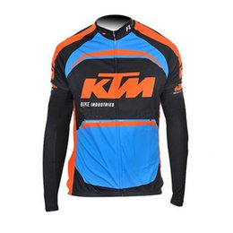 Wholesale Mtb Cycling Wear - KTM tour de france Cycling Jersey Men Pro Team Long Sleeves Bike Shirt Bicycle Clothing Wear quick dry ropa ciclismo mtb Clothes C0131