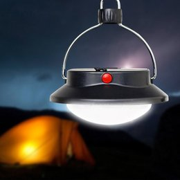 Wholesale Abs Spotlight - Wholesale- ABS Camping Tent Lanterns Outdoor Portable Light Lamp Home Emergency Black Lantern Surper Bright 60LEDs Handheld Spotlight