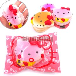 Wholesale Rose Aroma - slow rising hello cookies aroma kitty cake squishy for charm love bowknot Exquisite packaging tags