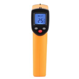 Wholesale Digital Lcd Display Infrared Thermometer - GM320 Non-Contact Laser LCD Display IR Infrared Digital C F Selection Surface Temperature Thermometer For Industry Home ZJ209