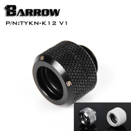 Wholesale Cool Compression - Wholesale- Barrow Black Silver OD12mm Hard tube fitting hand compression fitting G1 4'' OD12mm hard pipe TYKN-K12 V1