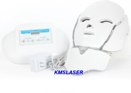 Wholesale Facial Treatment Light Machines - hot selling PDT 7 Color LED Facial Mask light photon therapy Photon LED skin rejuvenation beauty facial spa machine