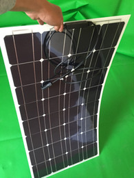 Wholesale Flexible Solar Panels For Boats - Factory Price Retail solar panel 100w; semi flexible solar panel 100w; mono solar cell 125*125mm for 12V battery charger