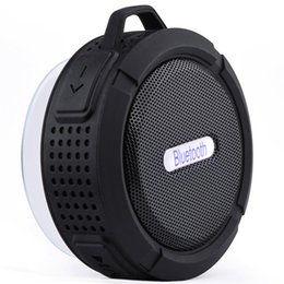 Wholesale Cup Boxes - New C6 Bluetooth Speaker Portable Wireless Waterproof Shower Speakers Handsfree with Mic Suction Cup Music Mini Boombox