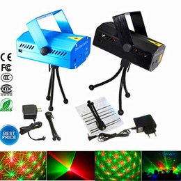Wholesale Laser Dancing Lights - Holiday Sale Blue Mini Laser Stage Lighting 150mW Mini Green&Red LED Laser DJ Party Stage Light Black Disco Dance Floor Lights