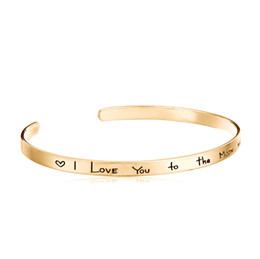 Wholesale Opal Bangles - Factory direct sales speed through the Amazon foreign trade new jewelry alloy simple letter inspirational lettering bracelet
