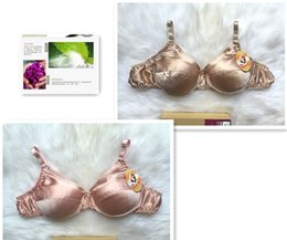 Wholesale Bra 4pcs - 4PCS Sexy silk bra 100% silk mulberry comfortable Underwire Solid 34B_42B B and