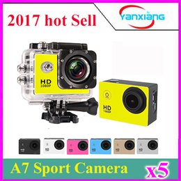 """Wholesale New Rock Climbing - 5pc Sale!!!New cheap Waterproof 720P A7 2.0"""" LCD Action Camera Sports DV Video Cam Outdoor Sport DVR Recorder Cam 90 wide-angle len ZY-DV-02"""