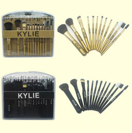 Wholesale Makeup Cc - KYLIE Beauty 12pcs 1 set Makeup Brushes Face Brush sets Foundation BB CC Cream Brush Makeup Tools KKA2847