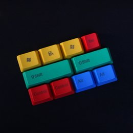 Wholesale Cherry Mx Keys - 10 keys RGBY modifier PBT keycaps for Cherry MX keyboard OEM profile replacement modifiers set for Cherry MX keyboard