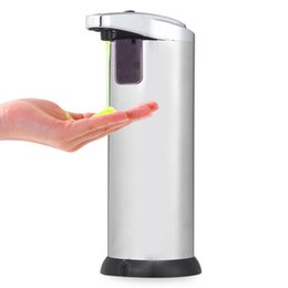 Wholesale Infrared Dispenser - Automatic Liquid Soap Dispenser Stainless Steel Smart Sensor Infrared Touchless Soap Dispenser 280ML For Kitchen Bathroom Home +NB